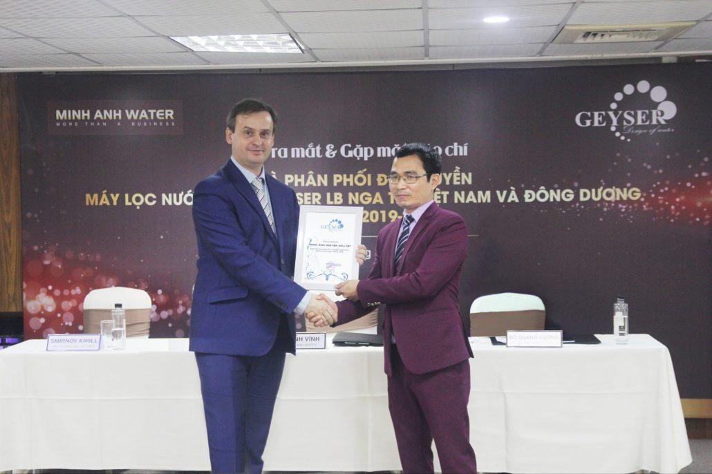 Minh Anh Water phân phối độc quyền Geyser