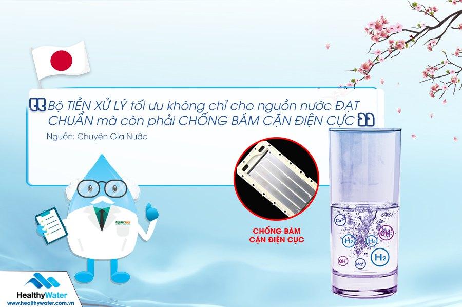 Tiêu chí lựa chọn bộ tiền xử lý cho máy lọc nước ion kiềm điện giải