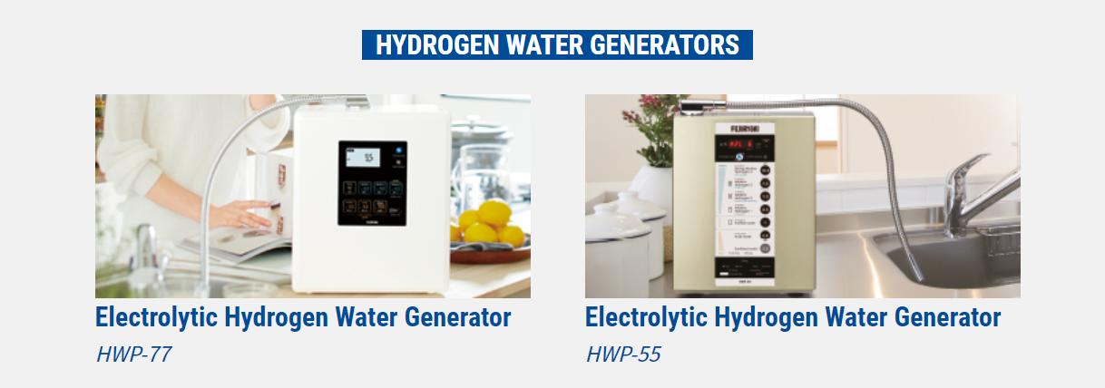 2 sản phẩm máy lọc nước ion kiềm mang thương hiệu Fujiiryoki của Fuji Medical Nhật Bản